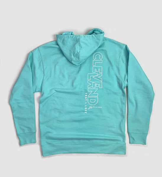 Cleveland That I Love Mint Hooded Sweatshirt