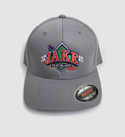 """The Jake"" Grey FlexFit Hat"