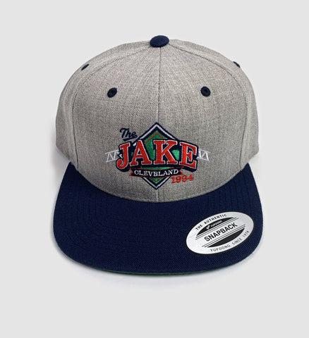 """The Jake"" Snap Back Hat Grey/Navy"