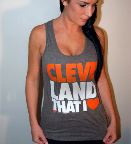 Coffee Cleveland That I Love Summer Tank
