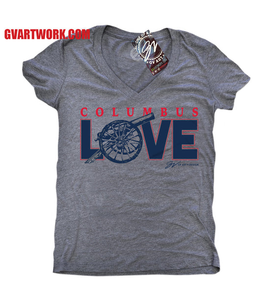 Womens Columbus Jackets Hockey LOVE T shirt