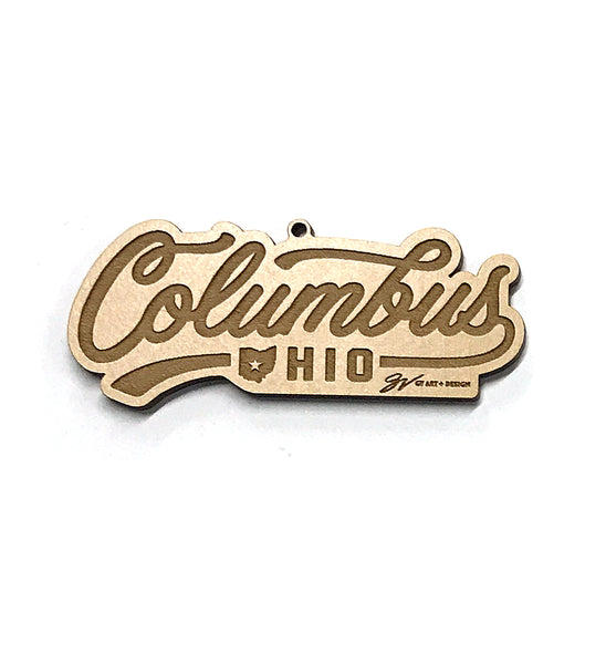 Columbus Ohio Wooden Ornament