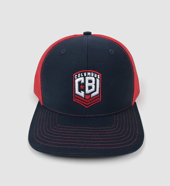 Columbus Hockey CBJ Red/Navy Mesh Hat