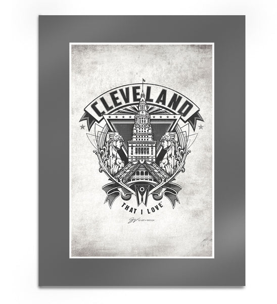 Cleveland Crest Graphic Print