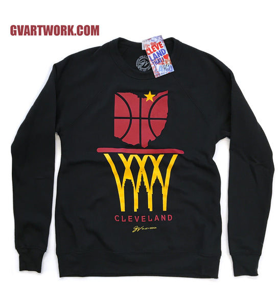 Cleveland Nothing But Net Skyline Classic Crew Sweatshirt