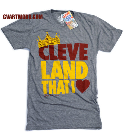 Cleveland That I Love Wine and Gold KING Crown shirt