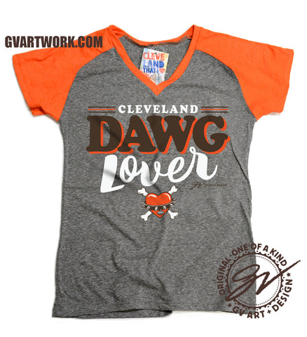 Womens Cleveland Football Dawg Lover shirt