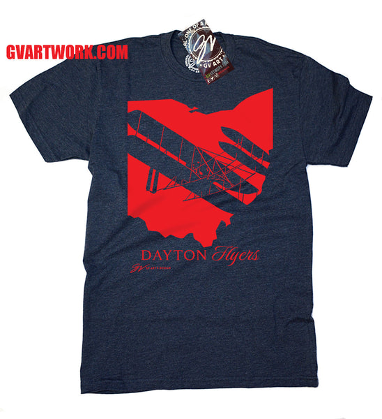Dayton Flyers Ohio vintage Fly T shirt