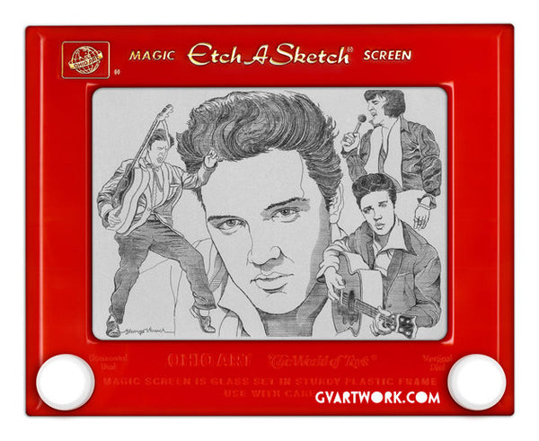 Limited Edition Elvis Etch A Sketch Artwork