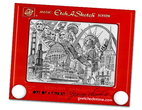 America Etch a Sketch - Magnets