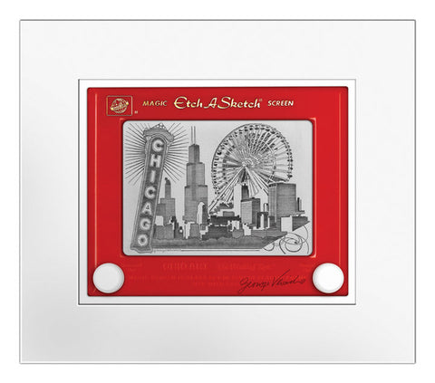 Chicago Etch A Sketch Matted Print