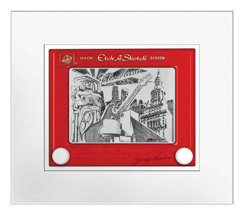 Cleveland Etch A Sketch Matted Print