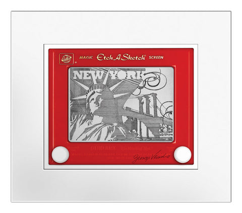 New York Etch A Sketch Matted Print