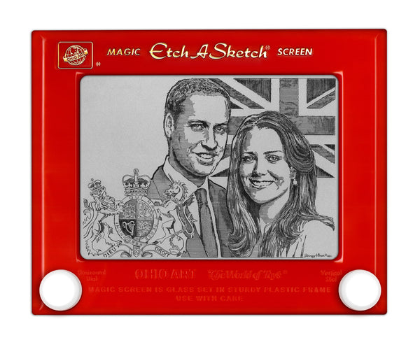 Royal Wedding Etch a Sketch Print