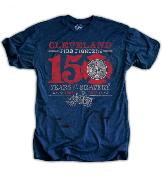 Cleveland 150th Anniversary Firefighters T shirt