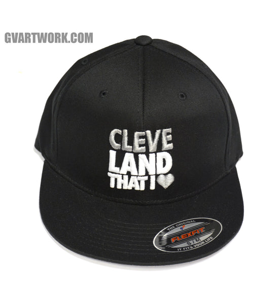 Flex Fit Fitted Cleveland That I Love Hat Black/Silver