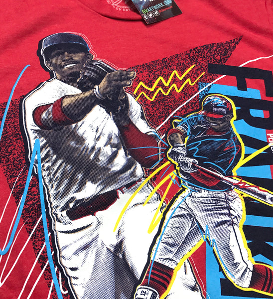 Francisco Lindor Red Bold Retro T shirt