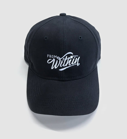 From Within Script Logo Navy Blue Dad Hat