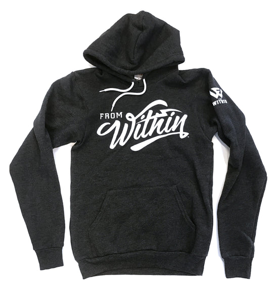 From Within Script Logo Sweatshirt - Charcoal