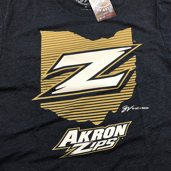 Akron Zips Ohio Z T shirt