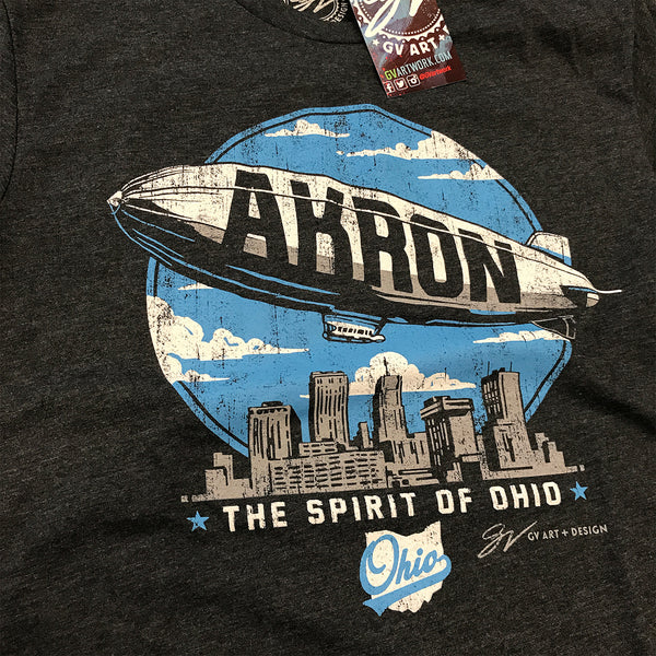 Akron Spirit of Ohio Blimp T shirt