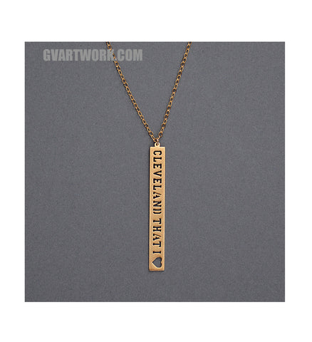 24K Gold Cleveland That I Love Down Necklace