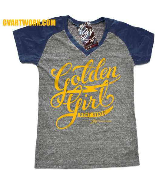 Womens Kent State Golden Girl T shirt