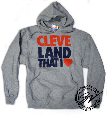 Cleveland Hoodie Grey - CleveLand That I Love