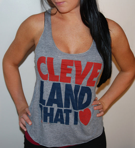 Grey Cleveland That I Love Summer Tank