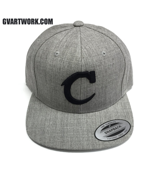 Heather Grey and Black Team Cleveland C Snap Back