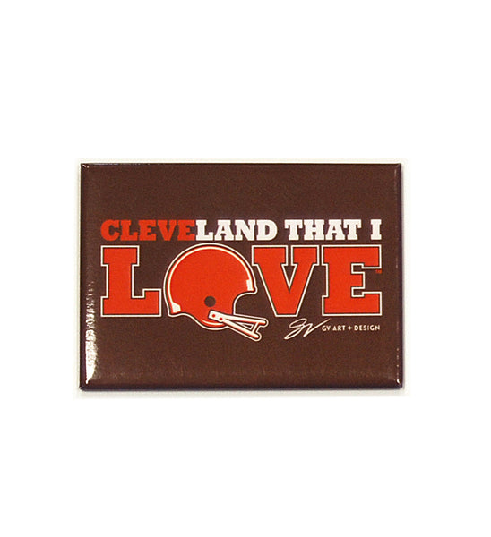Cleveland That I Love Football Magnet