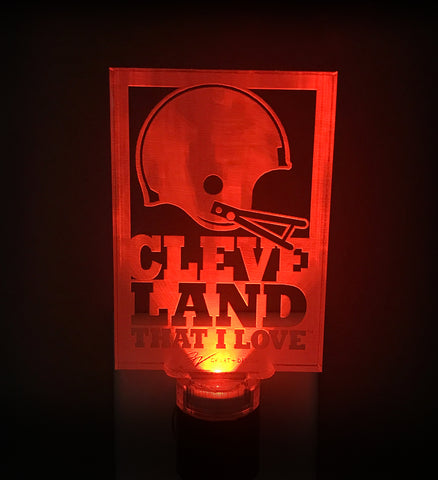Cleveland that I Love Helmet Nightlight