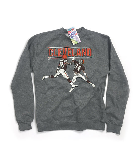 Cleveland Football High Five Vintage Crew Sweatshirt