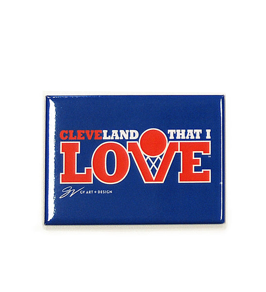 Cleveland That I Love Basketball Magnet