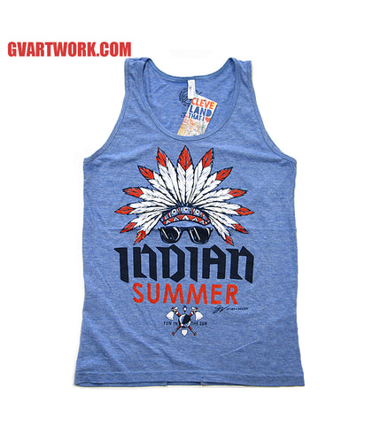 Blue INDIAN Summer Tank Top