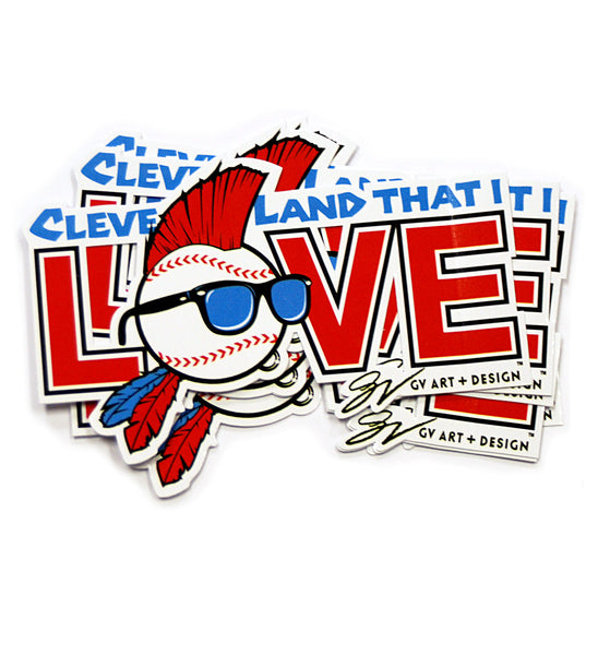 Cleveland That I Love Baseball Sticker