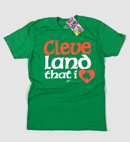 Cleveland That I LOVE Irish Font