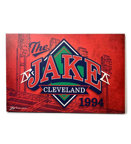 The Jake Canvas Artwork - Red