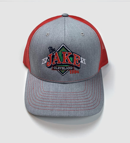 """The Jake"" Logo Mesh Hat - Red"