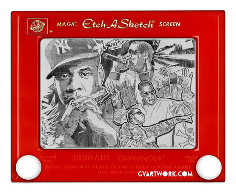 Limited Edition Jay Z Etch A Sketch Artwork