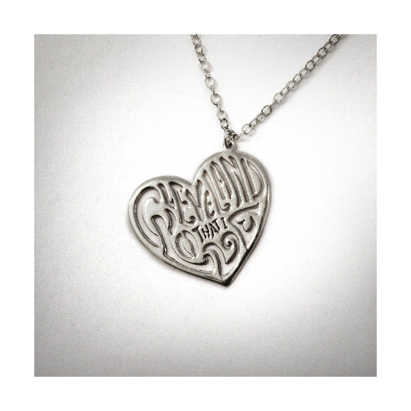 Sterling Silver Heart Cleveland That I Love Necklace