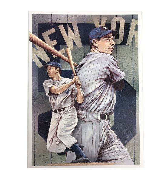 Joe DiMaggio Original Artwork Fine Art Print