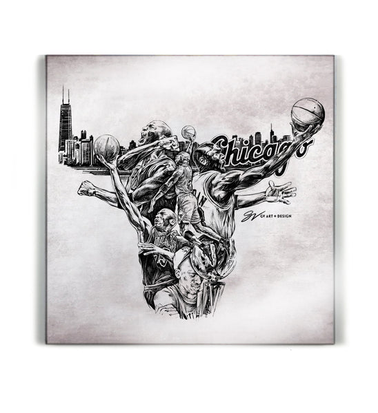 Limited Edition MJ Canvas Print - Grey