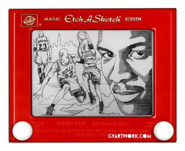 Limited Edition Michael Jordan Etch A Sketch Artwork