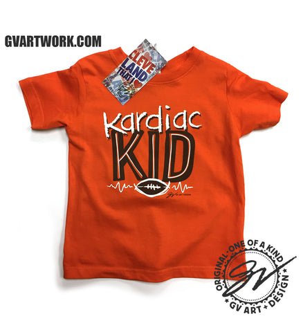 Kardiac Kid Cleveland Football Kids Shirt