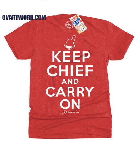 Keep Chief and Carry On Cleveland Baseball T shirt