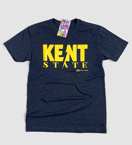 Navy Kent State Bolt T shirt