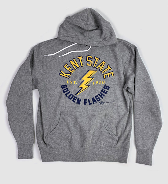 Kent State Golden Flashes Grey Hooded Sweatshirt