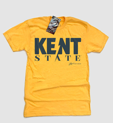 Gold Kent State Bolt T shirt