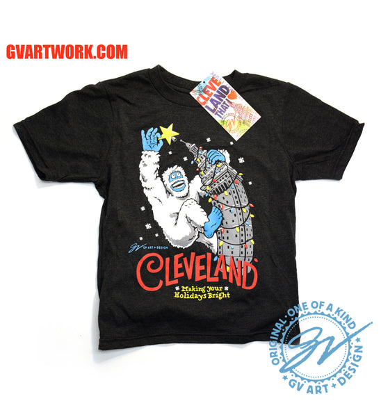 Kids Cleveland Making Your Holidays Bright T shirt